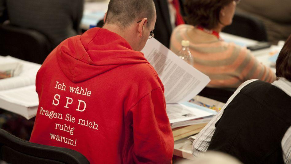 """SPD-Delegierter mit Trotzbotschaft: """"Ich wähle SPD. Fragen Sie mich ruhig warum!"""""""