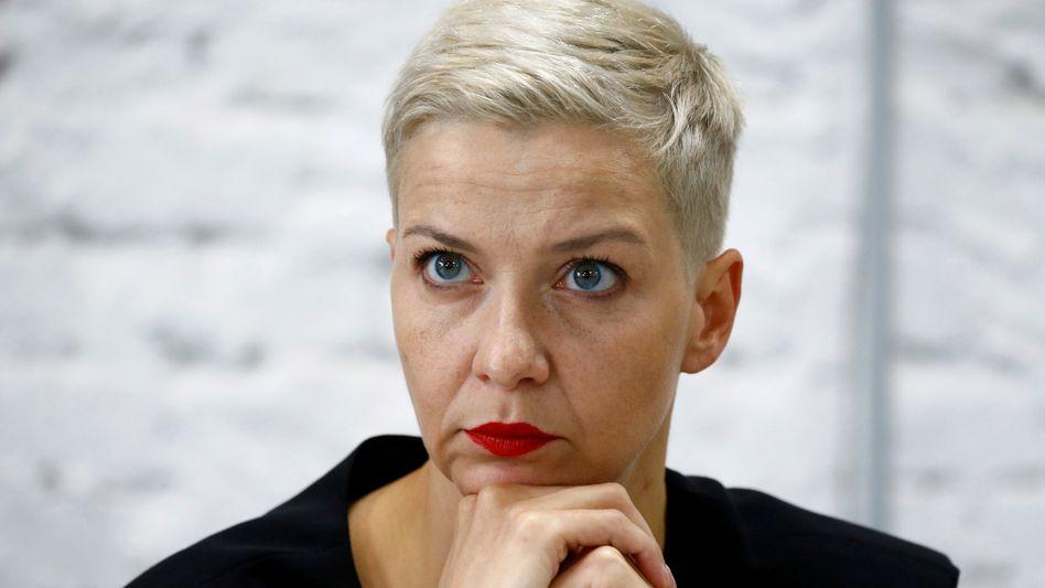 Maria Kalesnikava im vergangenen August in Minsk: Eine »harte Nuss« nennt ihre Schwester die Oppositionelle