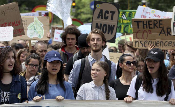 Greta Thunberg am 31. Mai in Wien, Österreich