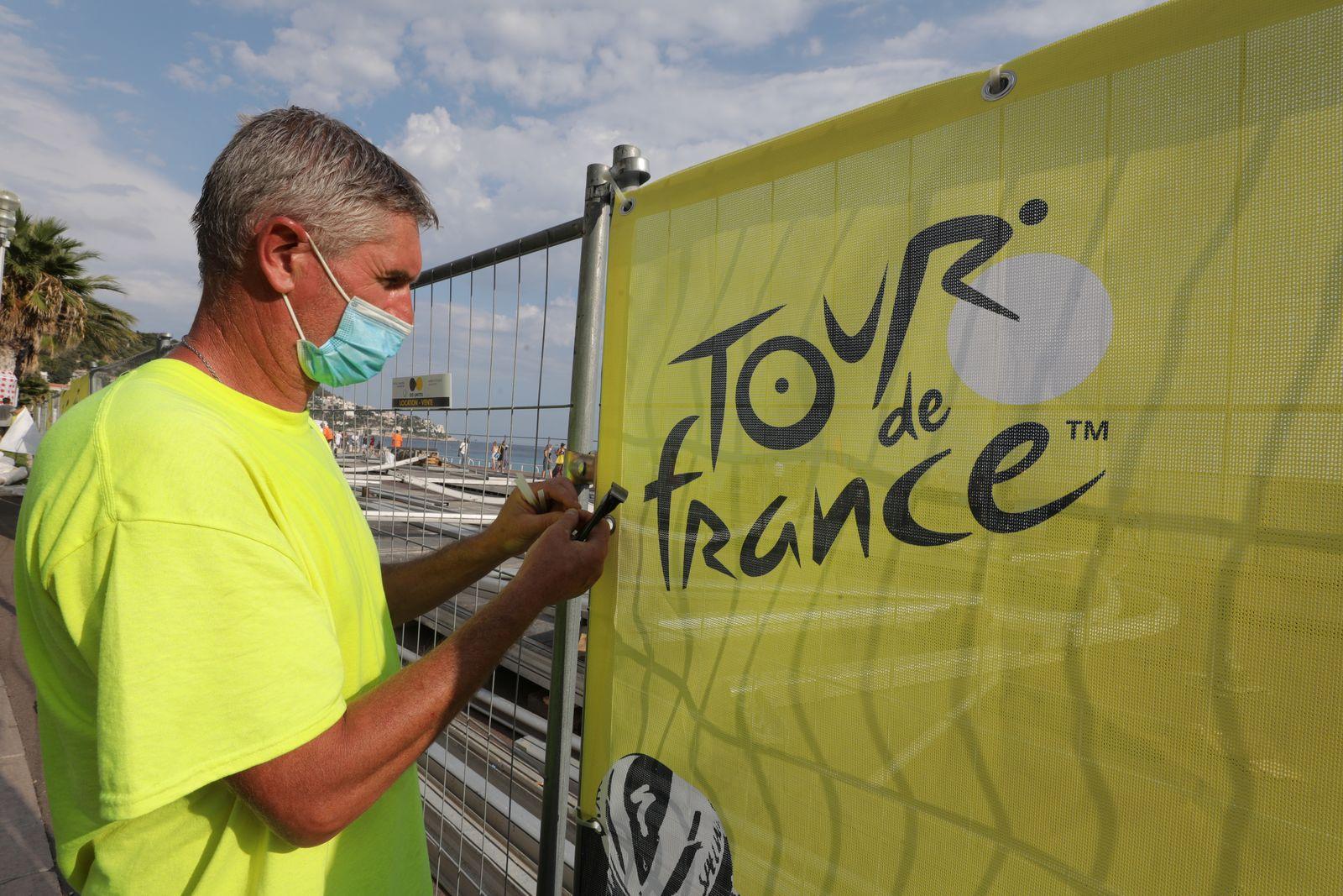 Preparations for the 2020 Tour de France