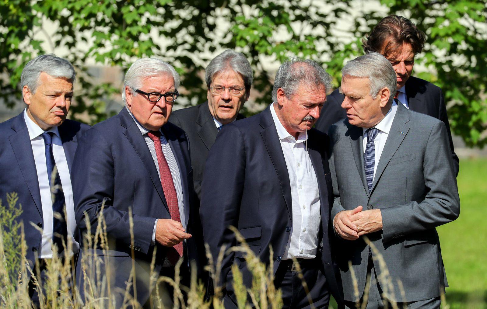 Jean Asselborn/ Interview/ Treffen der Außenminister der sechs EWG-Gründerstaaten