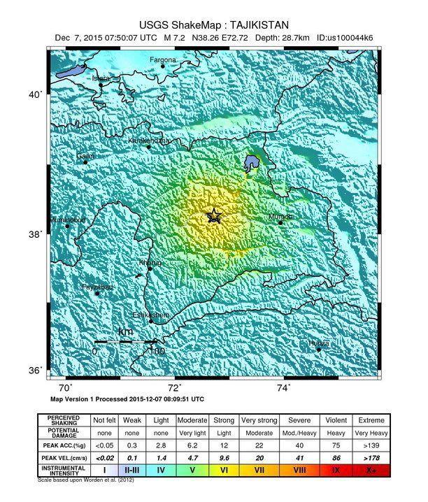 Erdbeben/ Tajikista