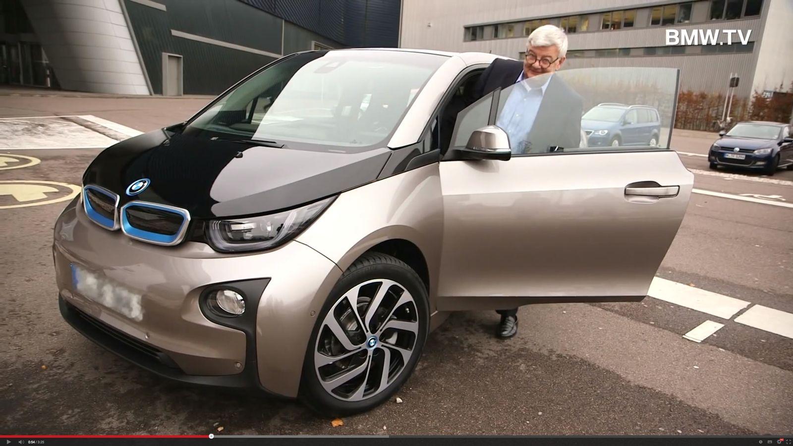 NUR ALS ZITAT Joschka Fischer / BMW i3