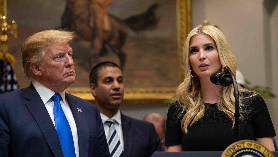 US-Präsident Donald Trump (l.) mit Tochter Ivanka