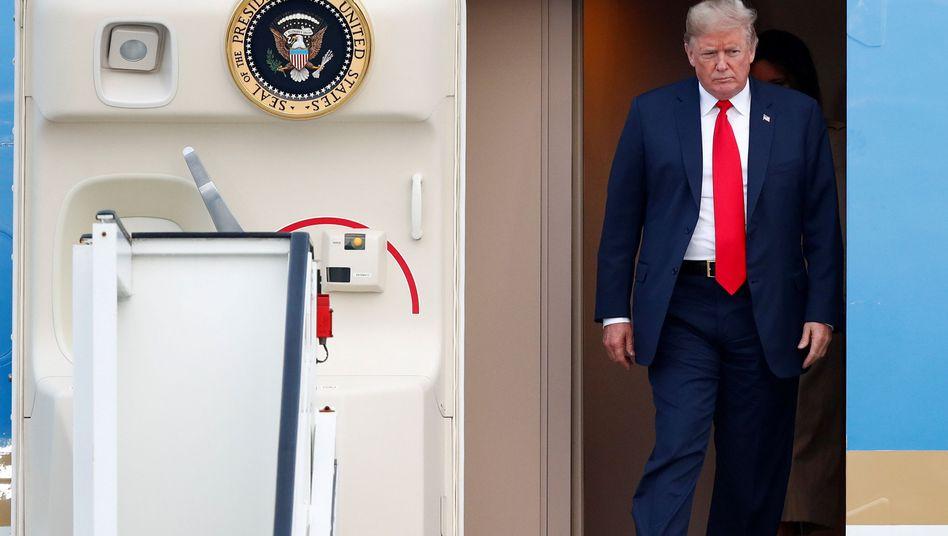 Donald Trump bei seiner Ankunft in Brüssel