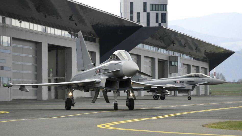 Eurofighter im obersteirischen Fliegerhorst Hinterstoisser in Zeltweg (Österreich)