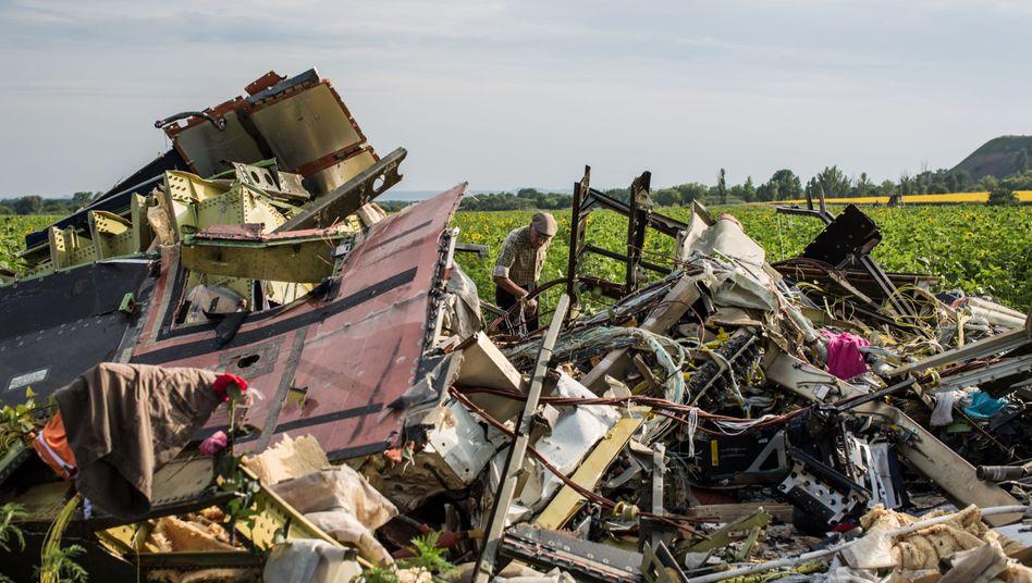 Trümmerteile von MH17 (am 19. Juli 2014): Moskaus plumpe Manipulationen