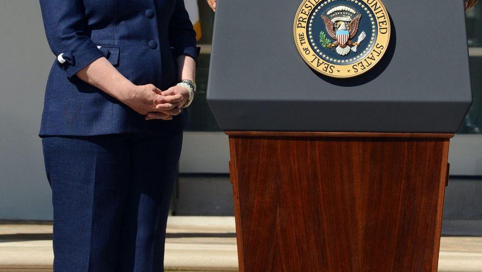 """Polit-Partner Clinton, Obama (2012): """"Anführerin aus dem Gestern"""""""