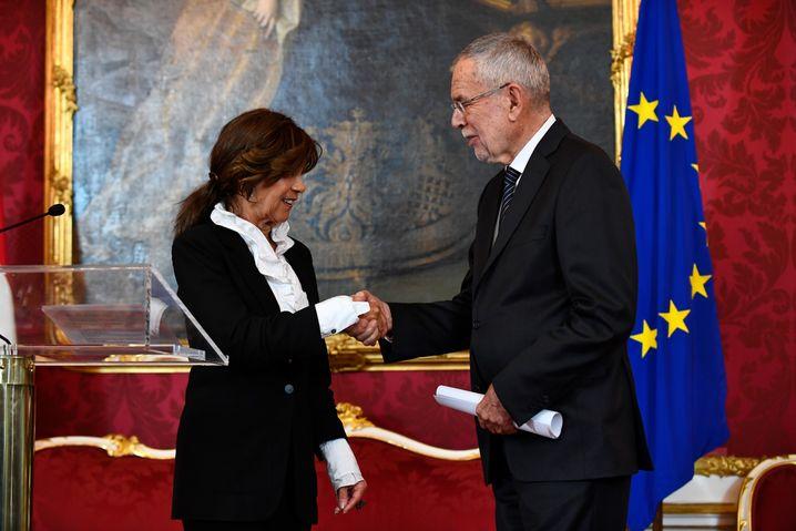 """""""Keine Freundin der Quote"""": Bierlein mit Staatspräsident Alexander van der Bellen in Wien"""