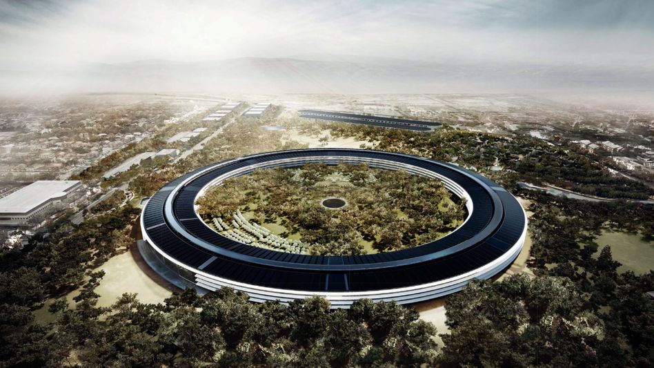 """Steve Jobs called Apple's Norman Foster-designed future headquarters (pictured here) """"the best office building in the world."""""""