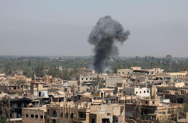 Deir al-Sor nach einem Luftangriff im Jahr 2013