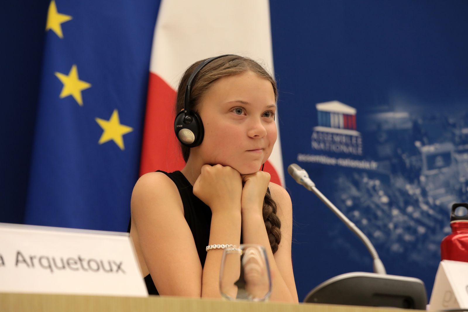 Greta Thunberg Addresses National Assembly In Paris
