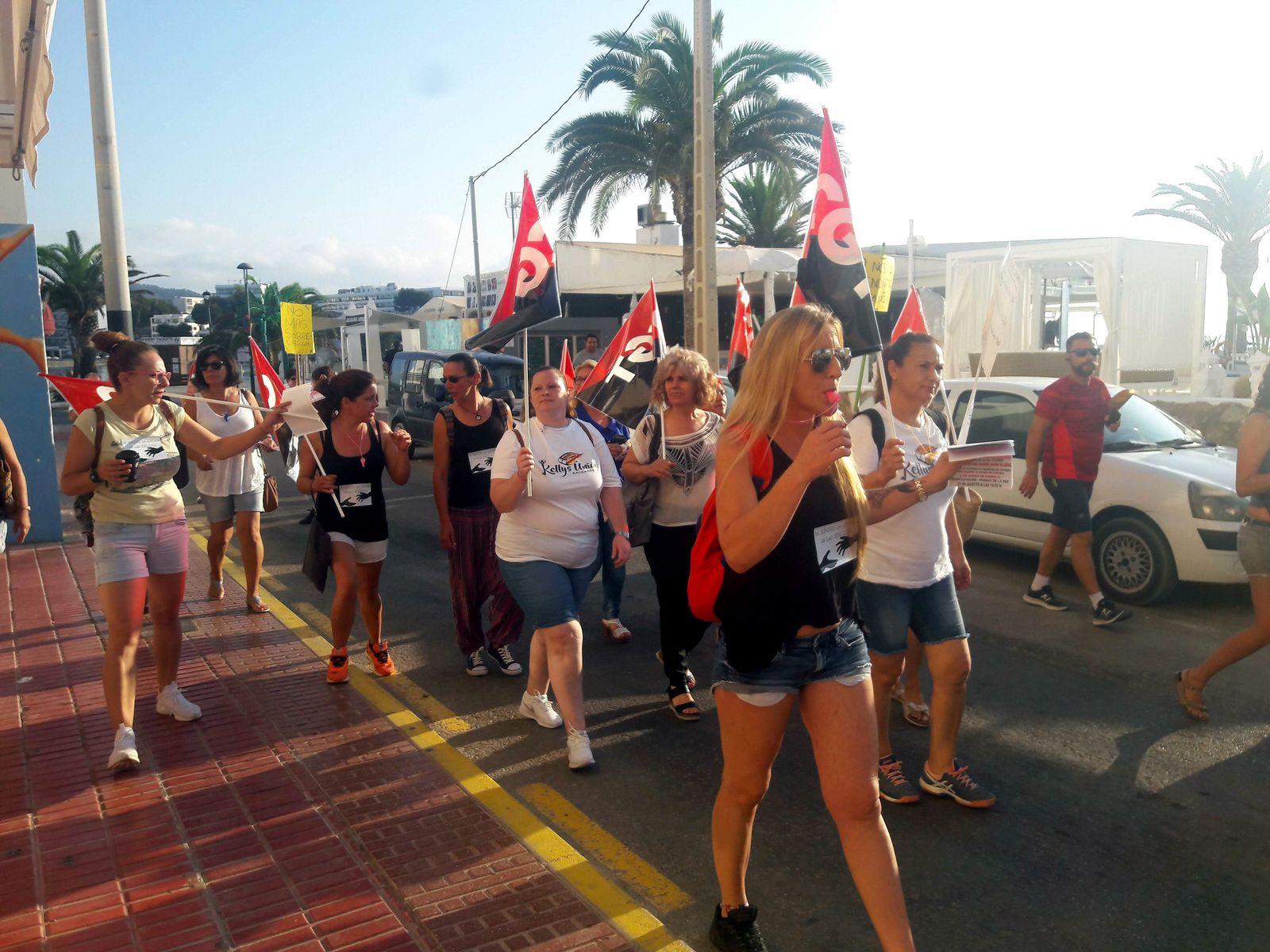 EINMALIGE VERWENDUNG Streik/ Zimmermaedchen/ Ibiza
