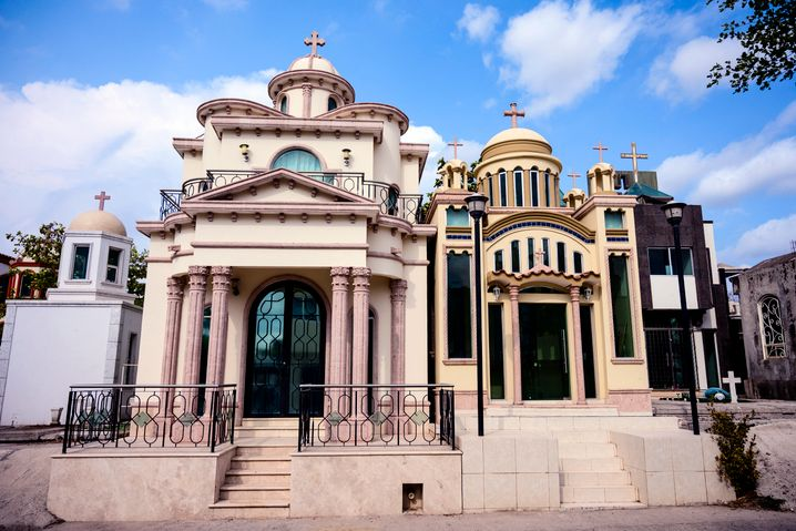 Mega-mausoleums in Culiacán, Mexico: The sites are often the venues for wild parties for cartel members.