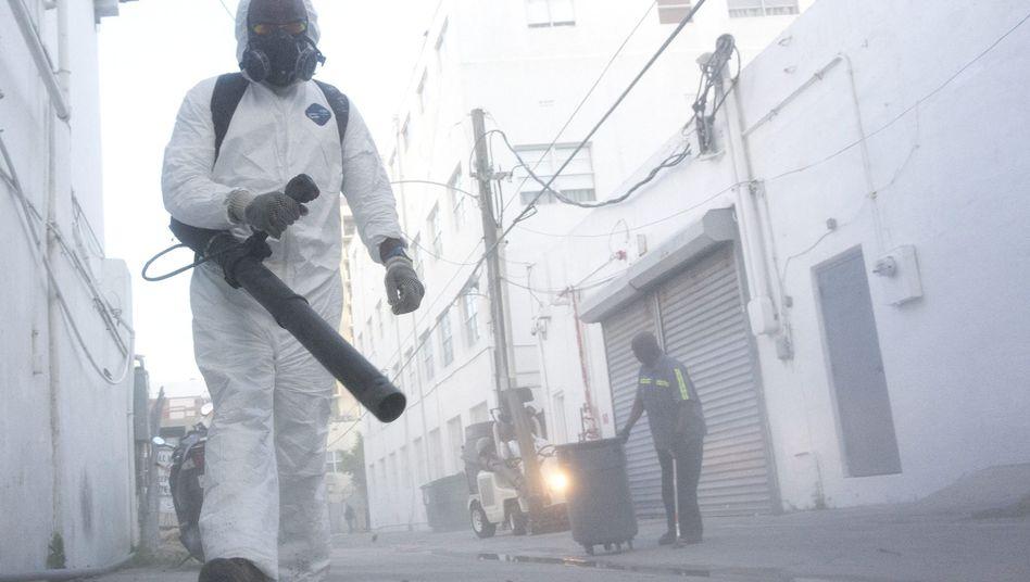 Mückenbekämpfung in Miami Beach