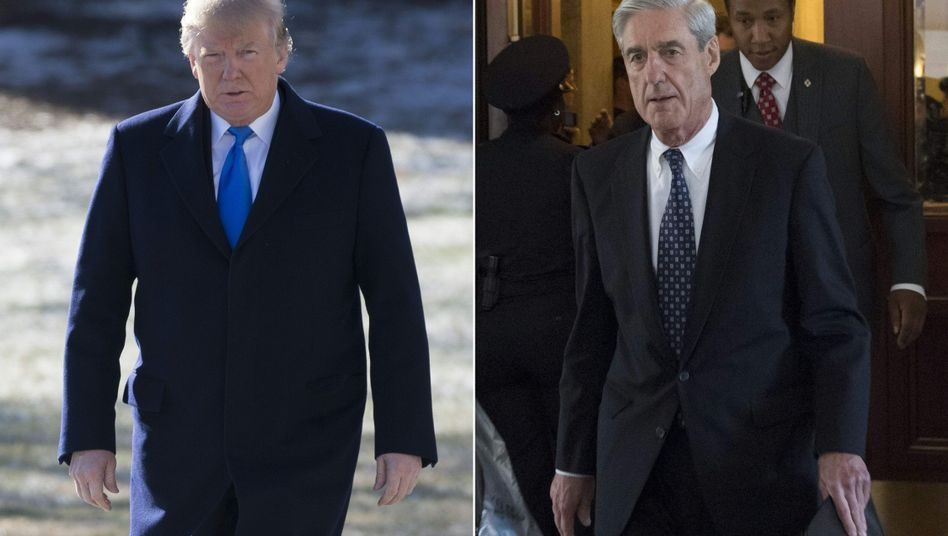 Donald Trump (l.) und Robert Mueller