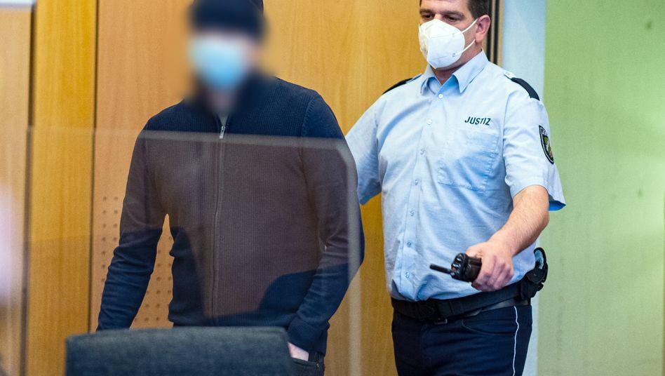 Landgericht Münster: Angeklagter im Gerichtssaal