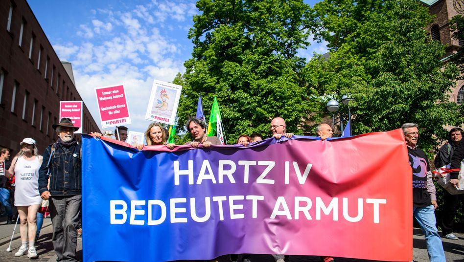 Anti-Hartz-IV-Demo in Baden-Württemberg