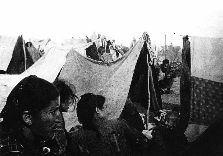 Armenier in einem Camp in Syrien, undatiertes Foto