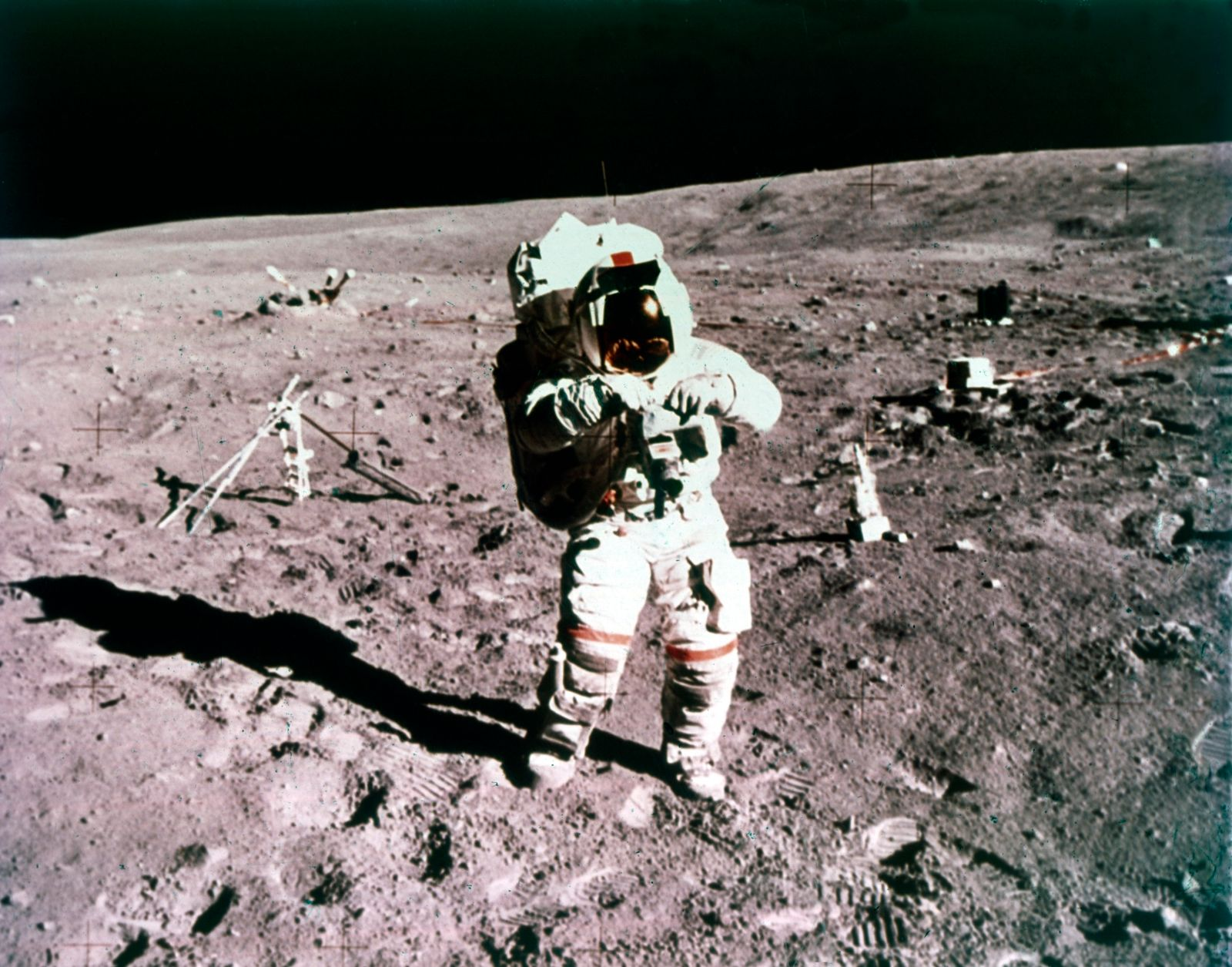 Astronaut John Young On The Lunar Surface