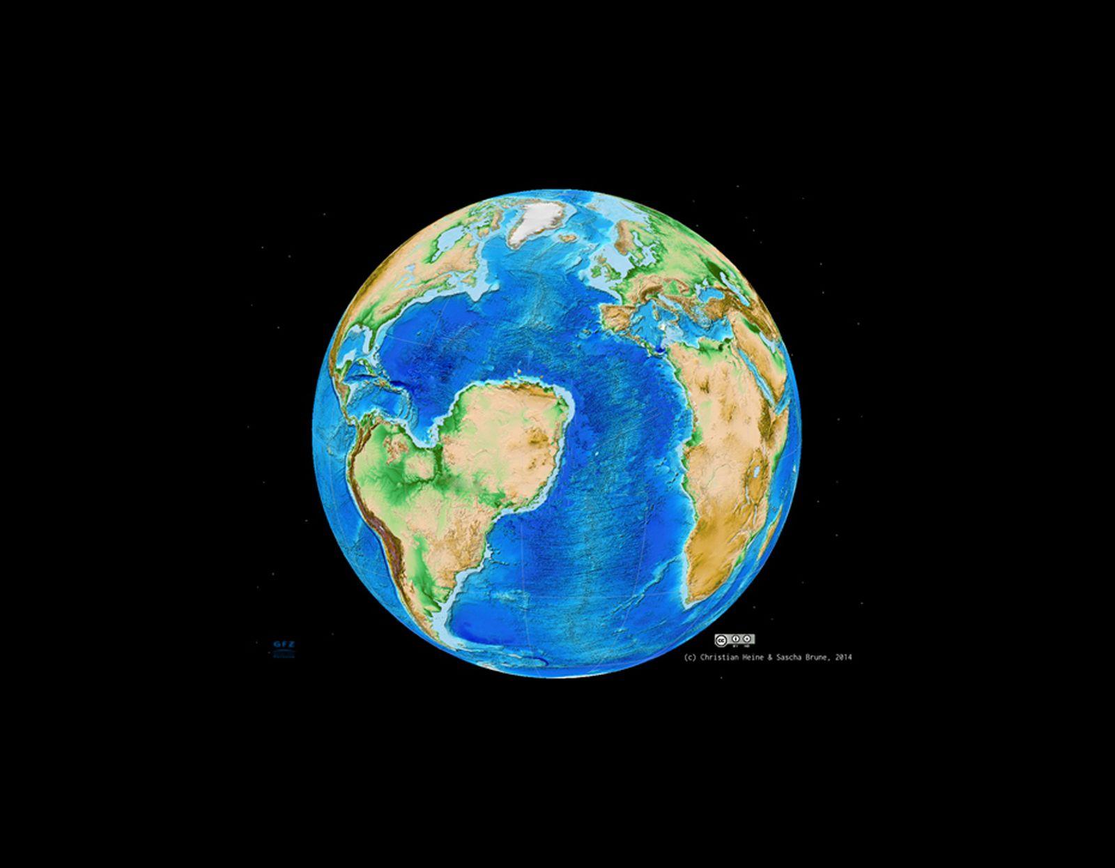 EINMALIGE VERWENDUNG Erde / Topographie