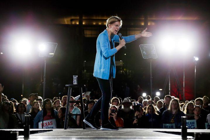 Nicht mitgehalten: Elizabeth Warren beim Wahlkampf in Texas