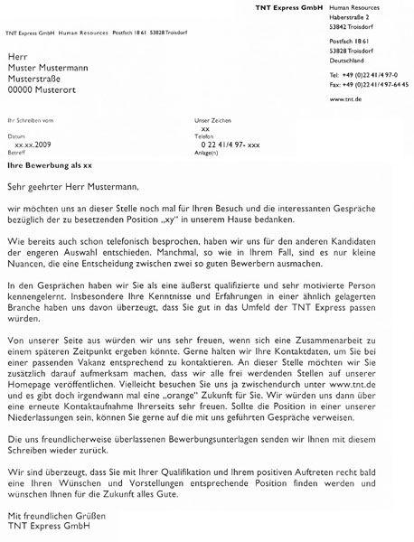Wie Kann Man Ein Absageschreiben Richtig Schreiben Germania 7