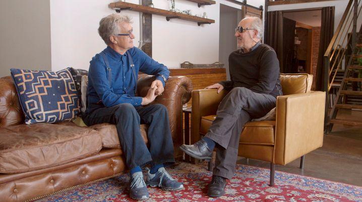Wenders und Werner Herzog im netten Gespräch