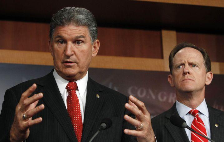 """Senatoren Manchin (links) und Toomey: """"Gesunder Menschenverstand"""""""