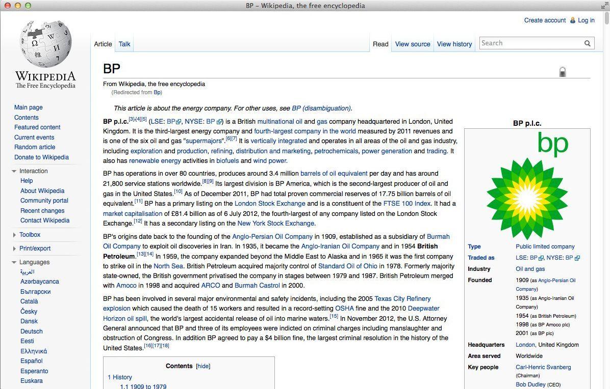 NUR ALS ZITAT Screenshot Wikipedia BP