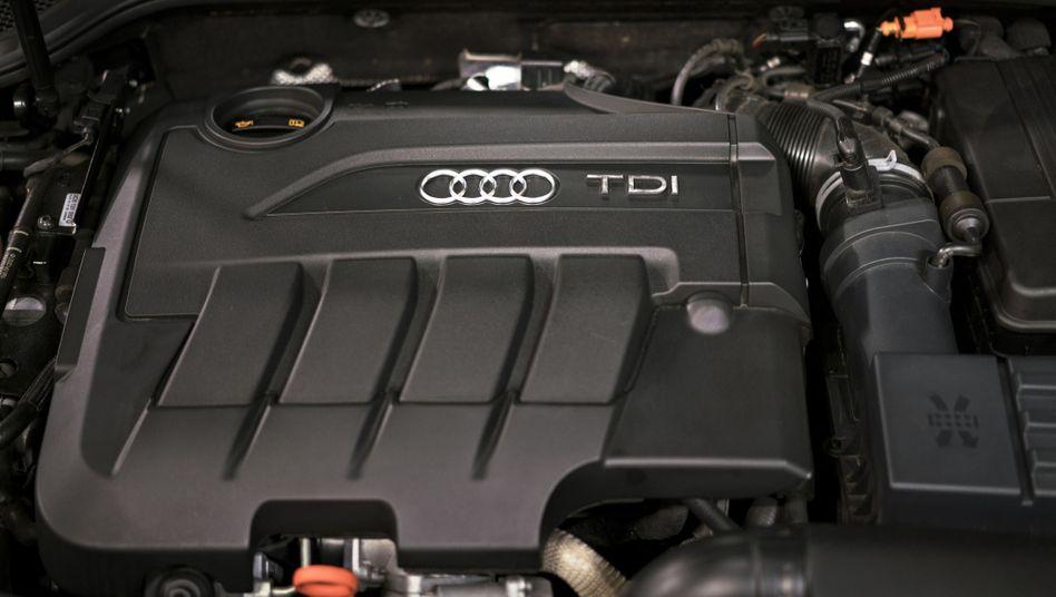 Dieselmotor eines Audi A3 TDI