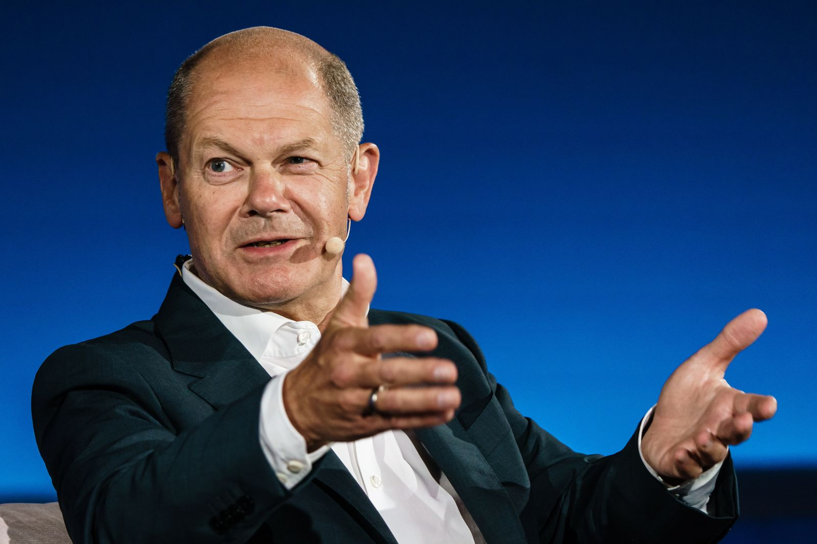 SPD top candidate for the federal elections Olaf Scholz participates in Brigitte-Live talk