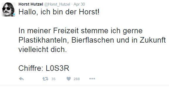 Screenshot Twitter-Account @Horst_Hutzel
