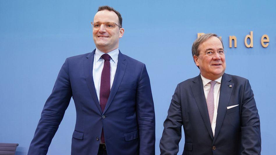 CDU-Politiker Spahn und Laschet