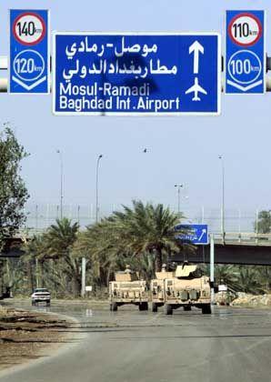 """Weg zum Bagdader Flughafen: """"Wir sind wie versteinert"""""""