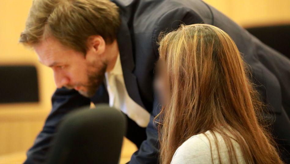 Angeklagte Lydia C. im Landgericht Aachen