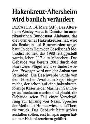 """Aus der """"Frankfurter Allgemeinen"""""""