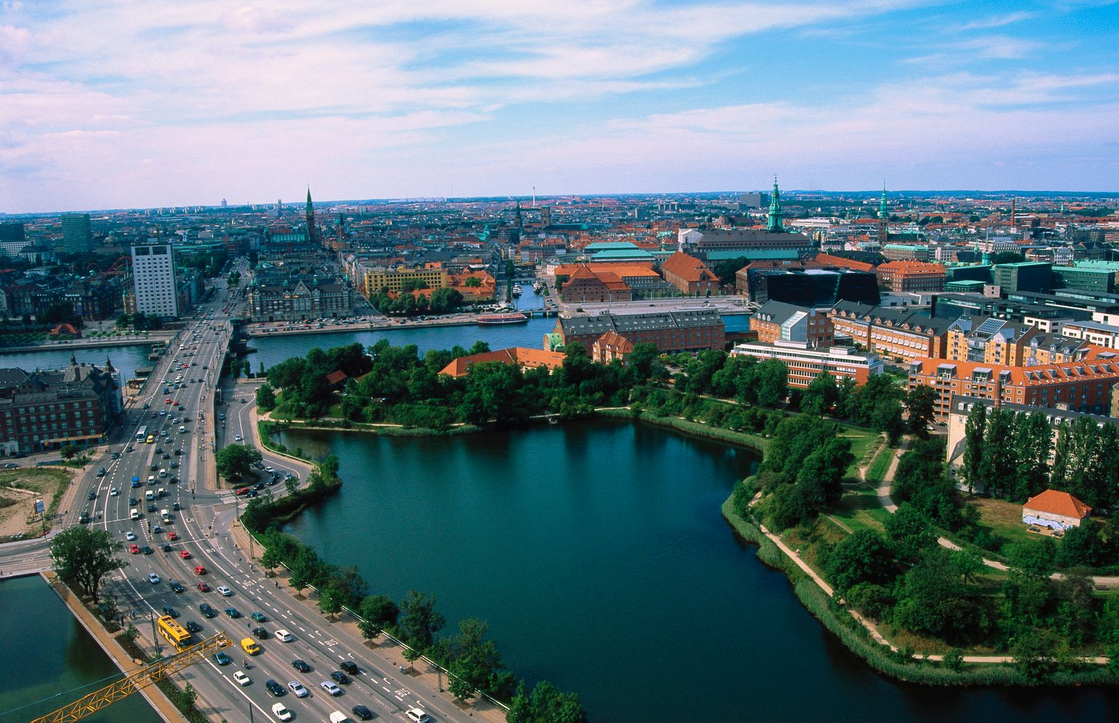 Denmark, Copenhagen, Aerial view of Amayer Blvd