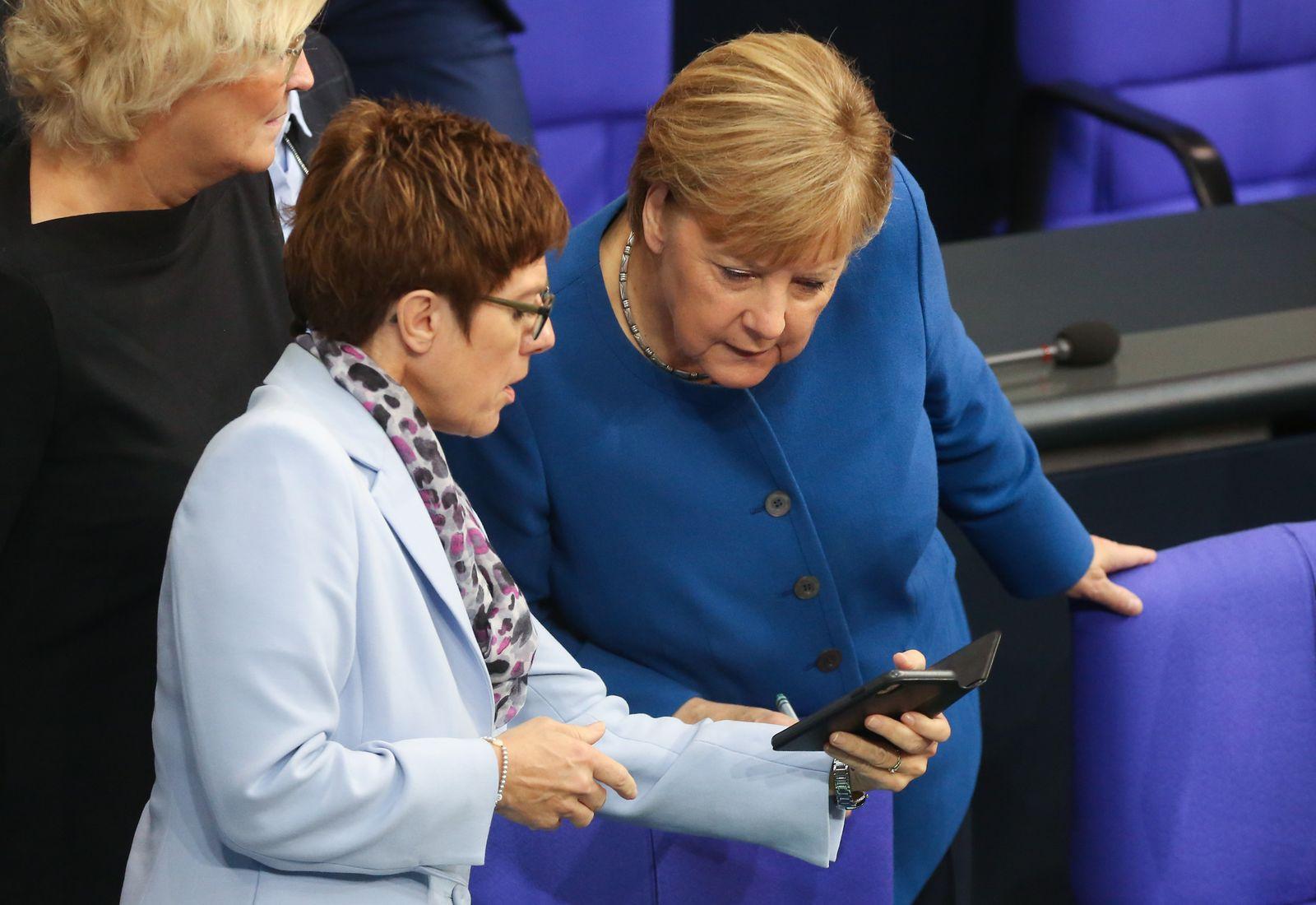 Merkel Gives Bundestag Speech Prior To European Council Summit