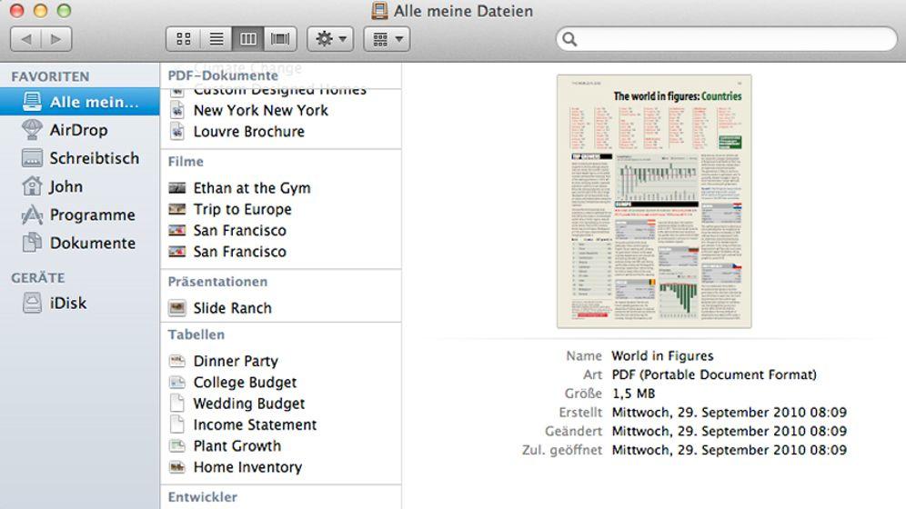 Mac OS X 10.7 Lion: Das neue Apple-System