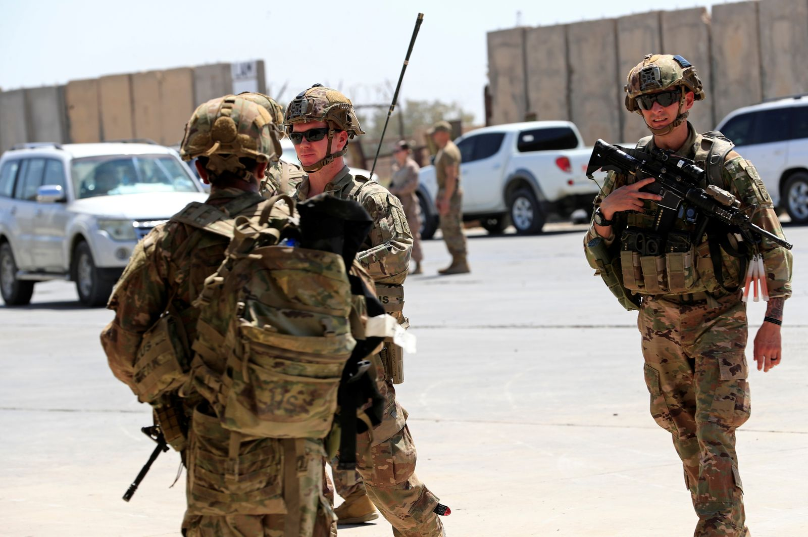 U.S.-led troops withdraw from Iraq's Taji base