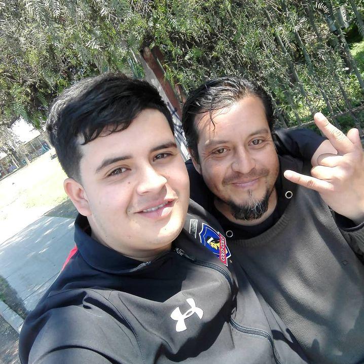 Sohn und Vater Rodrigo und Alex N.
