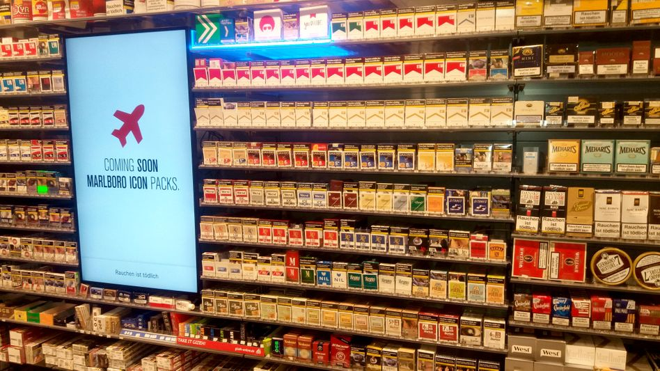 Vorsteckkarten in Tabakgeschäft
