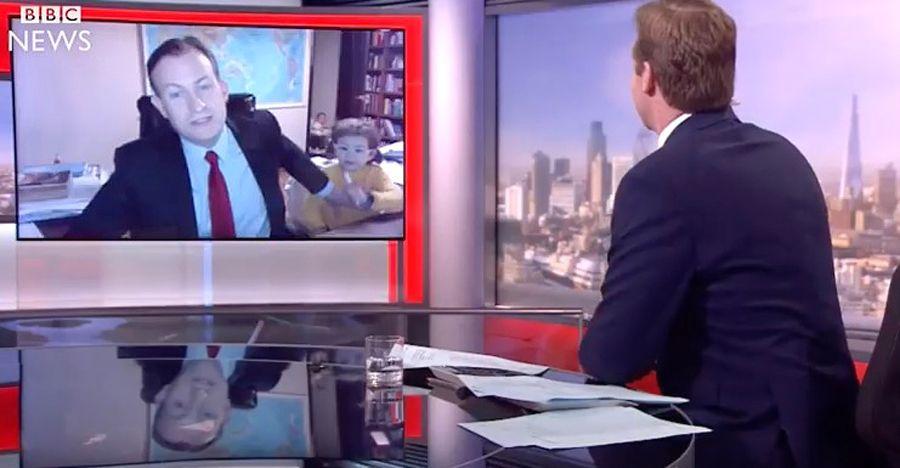 BBC-Interview mit Robert Kelly - plus Kindern