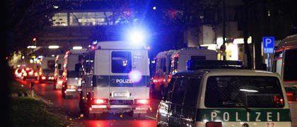Riot police intervene after violence breaks out in Berlin's Kreuzberg district Sunday.