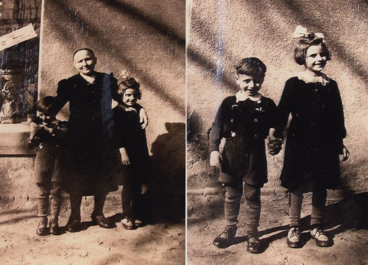 Regina Mart mit Bruder