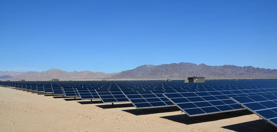 Desert Sunlight-Solarfeld in Kalifornien