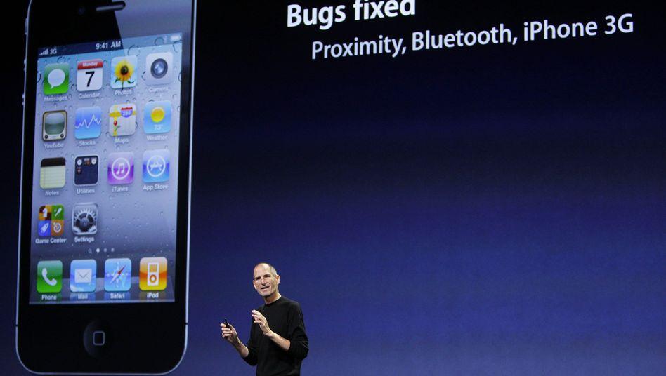 Steve Jobs: Der Apple-Boss präsentiert im September 2010 neue iPhone-Funktionen