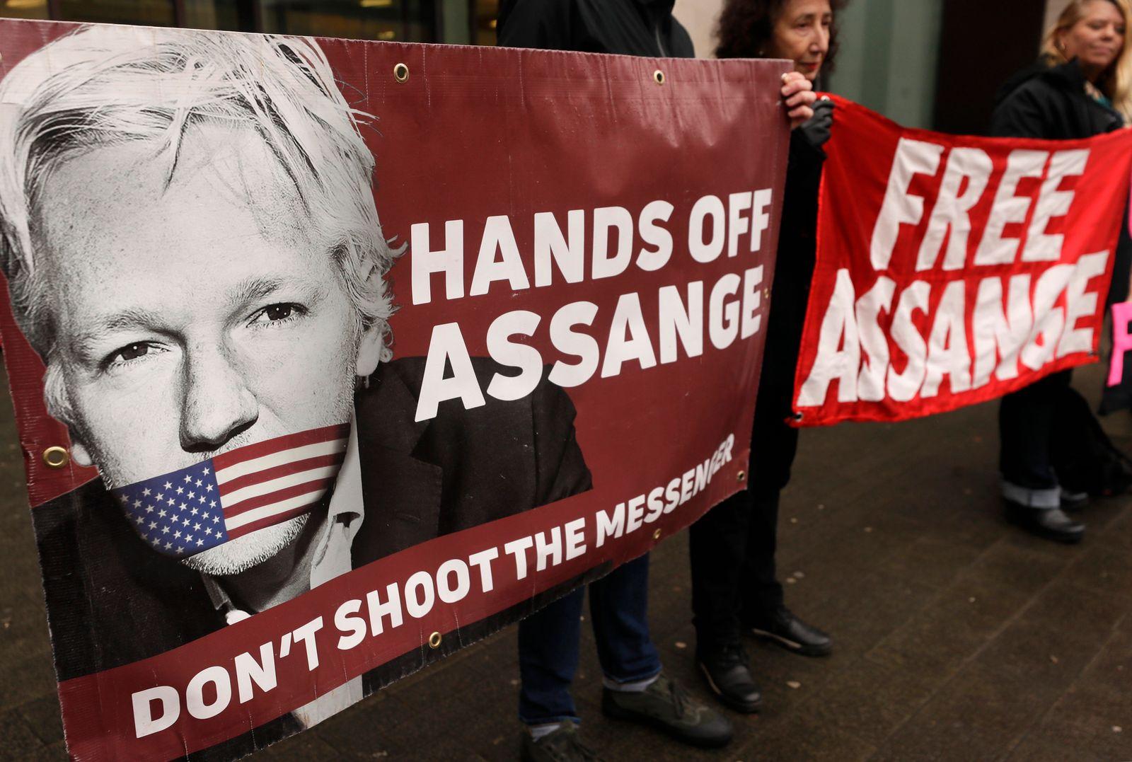 Gerichtsanhörung des Wikileaks-Gründers Assange