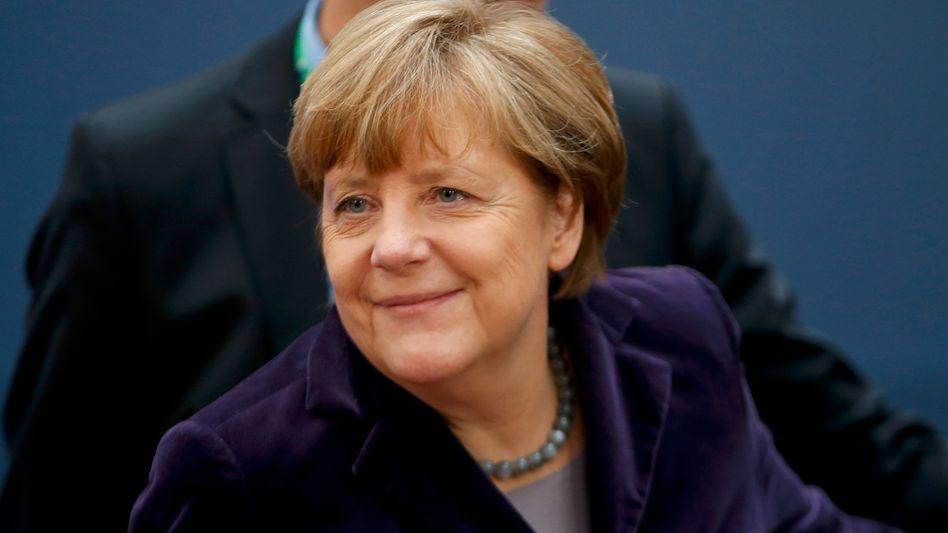 Kanzlerin Merkel in Brüssel: Düster mit Aussicht auf Besserung